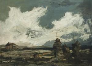 Moorlandschaft mit Torfmanderl ⋅ um 1935 Image