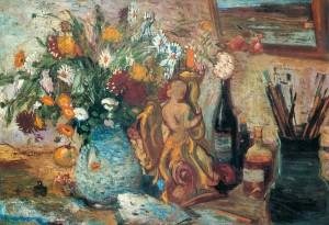 Strauß mit Margeriten im Atelier ⋅ um 1940 Image