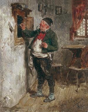 Wirt an der Tafel ⋅ 1888 Image