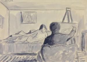 Maler bei der Arbeit ⋅ 1951 Image