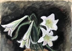 Weiße Lilien Image