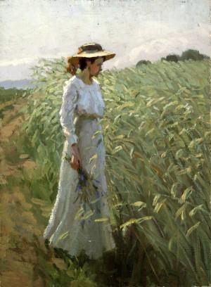 Mädchen am Kornfeld ⋅ um 1920 Image