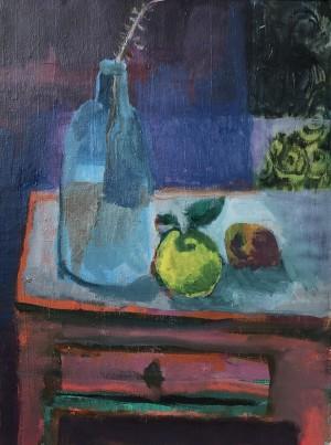 Flasche und zwei Früchte ⋅ 2007 Image