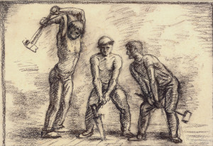Asphalt-Arbeiter ⋅ 1937 Image