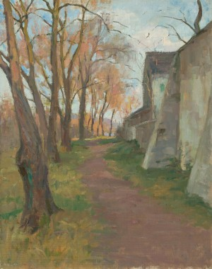 An der Klostermauer (Frauenchiemsee) ⋅ um 1925 Image