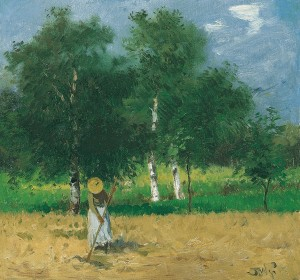 Feldarbeit am Chiemsee ⋅ um 1900 Image