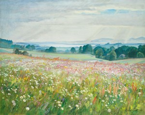 Blumenwiese am Chiemsee ⋅ 1926 Image