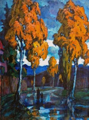Herbstabend (Birkenalle bei Diessen am Ammersee) ⋅ 1947 Image