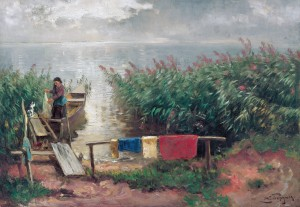 Morgenstimmung auf der Fraueninsel ⋅ um 1900 Image