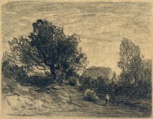 Baumlandschaft mit Gehöft ⋅ um 1880 Image