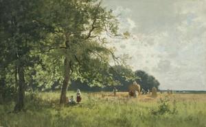 Ernte im Voralpenland ⋅ um 1890 Image