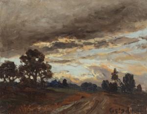 Abendstimmung bei Gstadt ⋅ um 1900 Image