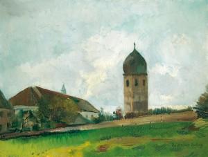 Klostergebäude mit Campanile (Fraueninsel) ⋅ um 1920 Image