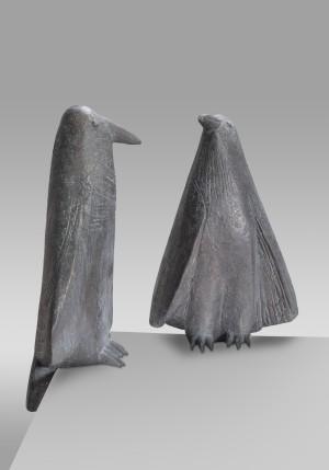 Vogel I (zuhörend) und Vogel II (keck) ⋅ 1995 Image