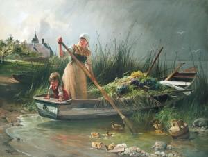 Ankunft von der Krautinsel ⋅ 1892 Image
