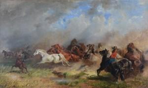 Brand in der Puszta ⋅ 1863 Image