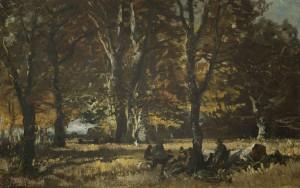 Jäger bei der Rast ⋅ um 1873 Image