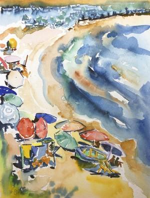 Sonnenschirme am Strand Image