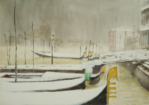 Venedig im Schnee ⋅ nach 1950 Image