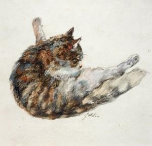 Putzende Katze Image