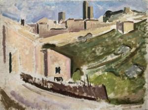 Südliche Stadt auf einem Hügel (Studie) Image