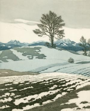 Schneeschmelze auf der Ratzinger Höhe ⋅ um 1915 Image