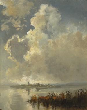 Gewitterwolken über den Chiemsee ⋅ um 1930 Image