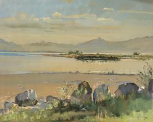 Uferpartie bei Seebruck ⋅ um 1924 Image