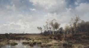 Oberbayerische Moorlandschaft ⋅ um 1885 Image