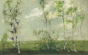 Birken im Frühling ⋅ um 1935 Image