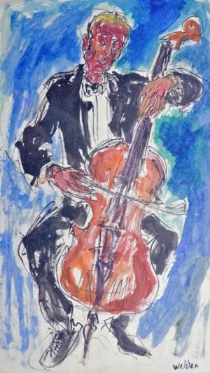 Cellist ⋅ um 1960 Image