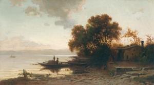 Abendstimmung auf der Fraueninsel ⋅ um 1860 Image