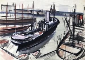 Schiffe in Anzio (Italien) Image