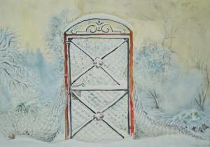 Verschneites Gartentor ⋅ nach 1950 Image