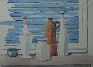 Flaschenstillleben am Fenster ⋅ 1985 Image