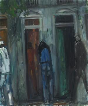 Schichtwechsel (Bordelleingang mit zwei Türen) ⋅ um 1965 Image