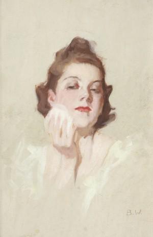 Mädchen mit Puderquaste⋅ um 1925 Image