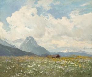 Frühlingswiese bei Garmisch-Partenkirchen ⋅ um 1920 Image