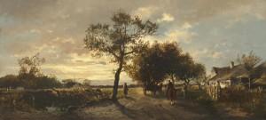 Abendstimmung im Dachauer Land ⋅ 1873 Image
