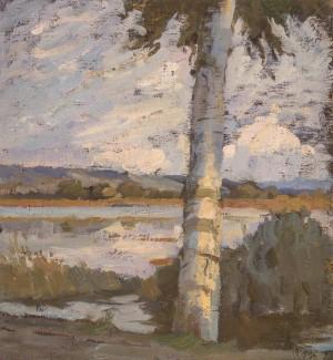 Birke am Seeufer ⋅ um 1915/20 Image