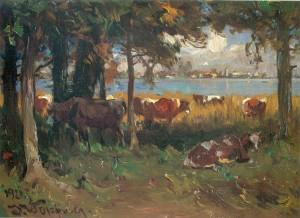 Kühe auf der Herreninsel ⋅ 1921 Image