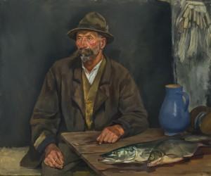Der alte Moser mit Hecht ⋅ 1929 Image