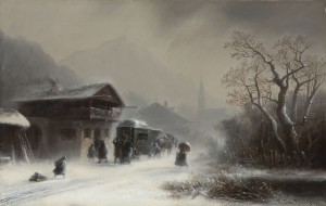 Schneetreiben an der Poststation Image