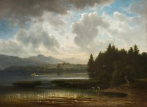 Blick auf Herrenchiemsee ⋅ um 1870/75 Image