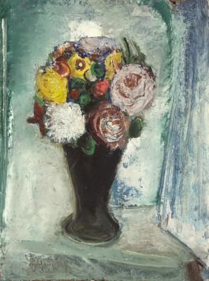 Sommerstrauß in dunkler Vase ⋅ 1966 Image
