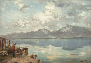 Sommertag am Chiemsee ⋅ um 1920 Image