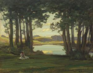 Mädchen am See ⋅ um 1905 Image