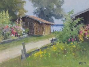 Hütte beim Holzmayer auf der Fraueninsel ⋅ um 2003 Image