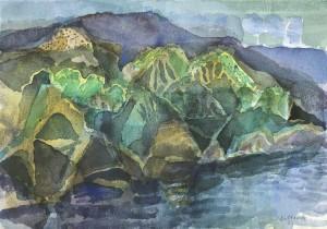 Frühsommer, Landschaft auf der Insel Hvar, Kroatien ⋅ 1985 Image