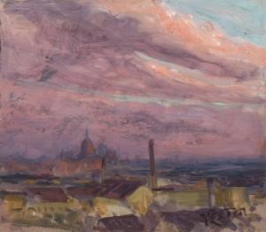 Abendhimmel über München ⋅ um 1920 Image